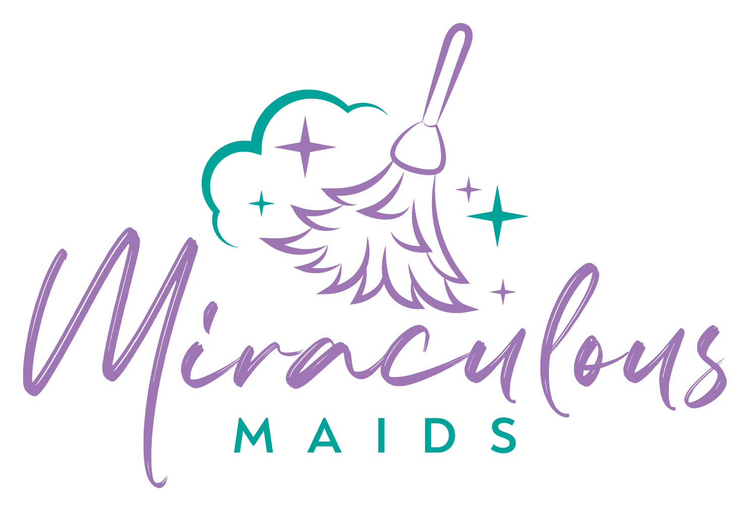 Miraculous Maids logo featherduster